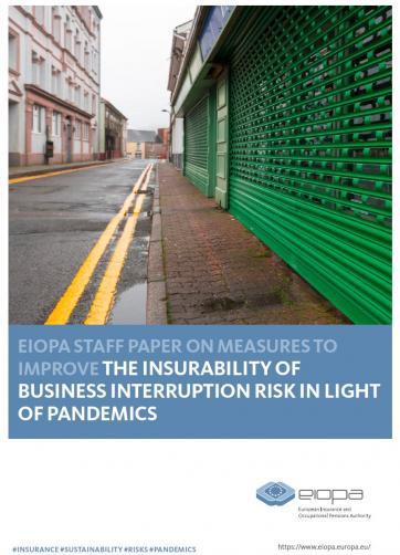 EIOPA staff paper on measures to improve the insurability